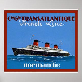 La publicité vintage de voyage de ~ de Transatlant Posters