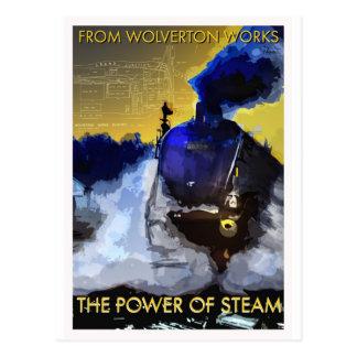 La puissance de la carte postale ferroviaire class