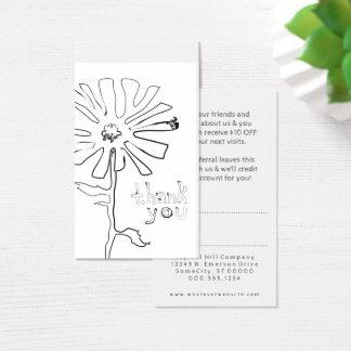 la référence vous remercient fleur de gribouillis cartes de visite