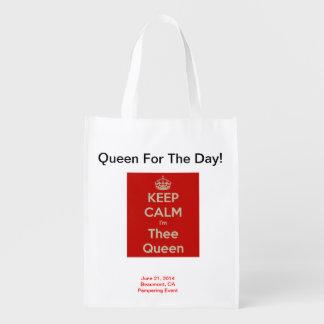 La Reine pour le jour ! Sac réutilisable et pliabl Sacs D'épicerie Réutilisables
