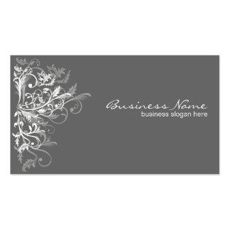 La rétro fleur blanche élégante tourbillonne carte de visite standard