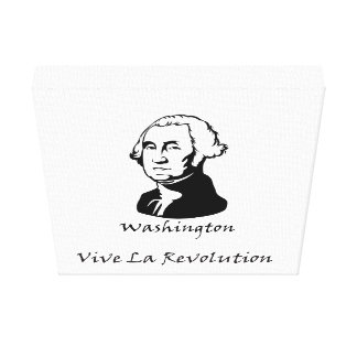 La-Revolution Georges Washington Vive Leinwanddruck