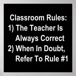 La salle de classe ordonne (tout le texte blanc) poster