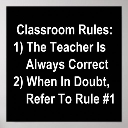 La salle de classe ordonne (tout le texte blanc) affiches