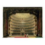 La Scala, Milan, pendant une représentation Cartes Postales
