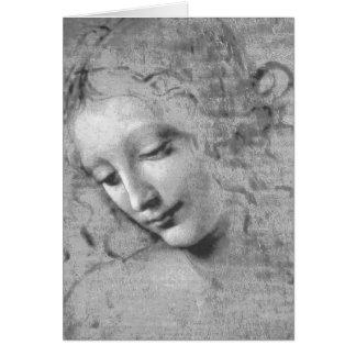 La Scapigliata durch Leonardo da Vinci Grußkarte