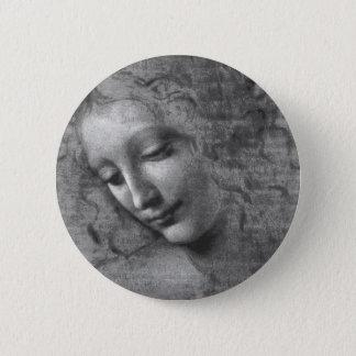 La Scapigliata durch Leonardo da Vinci Runder Button 5,1 Cm