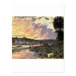 La Seine chez Bougival le soir (1870) Carte Postale