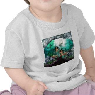 La sirène jumelle le T-shirt de bébé