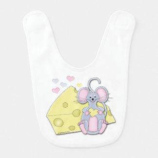 La souris aime le fromage bavoirs de bébé