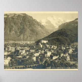 La Suisse vintage, Interlaken et le Jungfrau Affiche