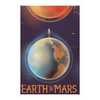 La terre à l'affiche vintage de la science-fiction toiles