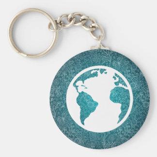 La terre trouve le pictographe porte-clé rond