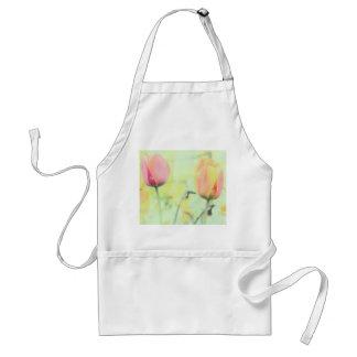 La tulipe fleurit des tabliers de fleurs