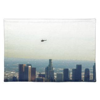 LA und Hubschrauber Stofftischset