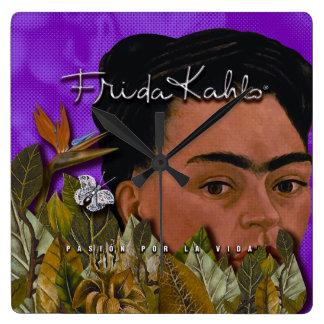 La Vida Frida Kahlos Pasion Por Quadratische Wanduhr
