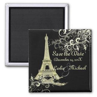 La visite vintage Eiffel de La de PixDezines, font Aimant Pour Réfrigérateur