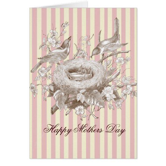 La zierliches Famille, Rosa und Creme, Mutter-Tag Grußkarte