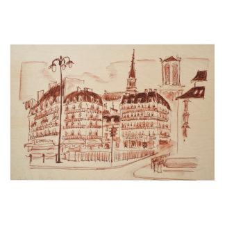 La zitieren und Notre Dame de Paris   Paris, Holzleinwand