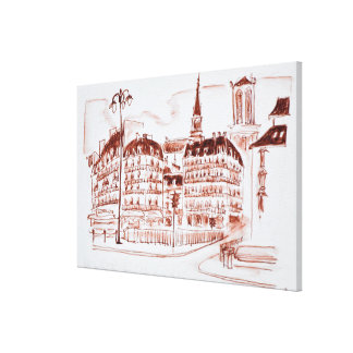 La zitieren und Notre Dame de Paris   Paris, Leinwanddruck