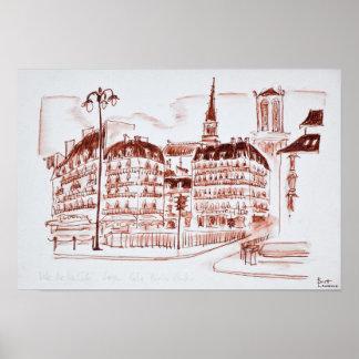 La zitieren und Notre Dame de Paris   Paris, Poster