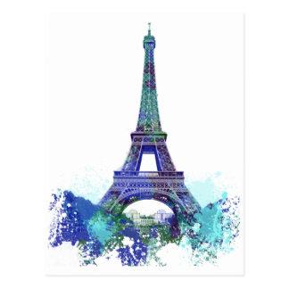 Laausflug Eiffel-Farbspritzen Postkarte