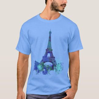 Laausflug Eiffel-Farbspritzen T-Shirt