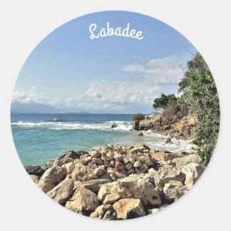 Labadie Meerblick-Nr. 2-Gewohnheit Runder Aufkleber