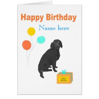 Labradoodle Hundegeburtstagskarte addieren Namen Karte