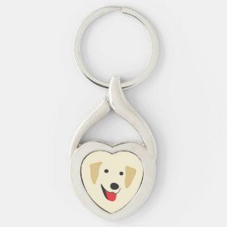 Labrador-Gesicht Schlüsselanhänger