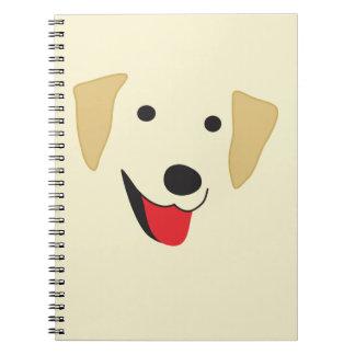 Labrador-Gesicht Spiral Notizblock