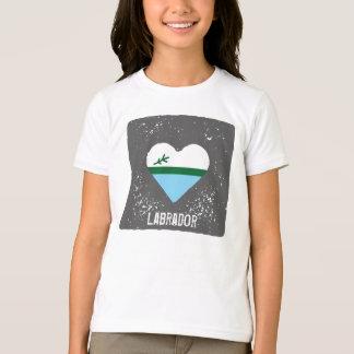 Labrador - Herzflagge (Kinder) T-Shirt