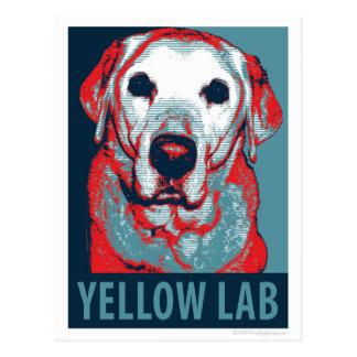 Labrador-Hoffnungs-politischer Parodie-Entwurf Postkarte