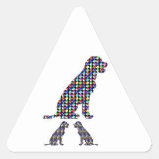 LABRADOR-Hundewelpe punktiert Haustier NVN93 Dreieckiger Aufkleber