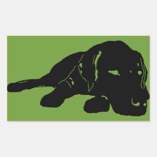 Labrador-Liebe-Aufkleber-Rechteck Rechteckiger Aufkleber