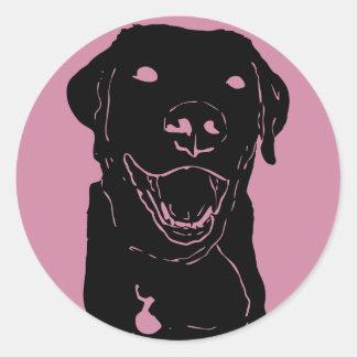 Labrador-Liebe-Aufkleber rund Runder Aufkleber