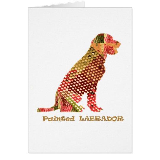 LABRADOR: Majestätischer eleganter Hund Grußkarte