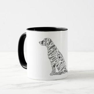 Labrador-Retriever-Gekritzel-Entwurfs-Tasse Tasse
