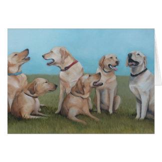 Labrador retriever-Hundekunst-Gruß-Karte Karte
