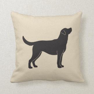 Labrador-Retriever-HundeSilhouettethrow-Kissen Kissen