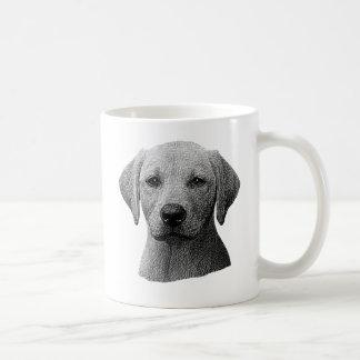 Labrador retriever - Sylized Bild - addieren Text Kaffeetasse