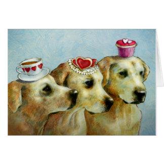 Labrador retriever-Valentinsgruß-Karte Grußkarte