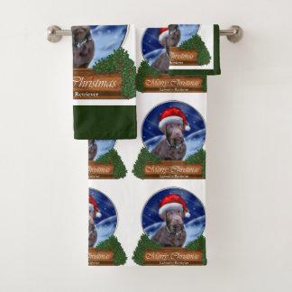 Labrador retriever-Weihnachten Badhandtuch Set