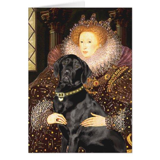 Labrador (Schwarzes) - Königin Grußkarte