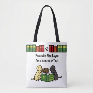 Labrador-Welpen-Lesebuch-Taschen-Bücher Tasche