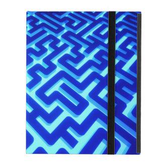 Labyrinth-Blau Etui Fürs iPad