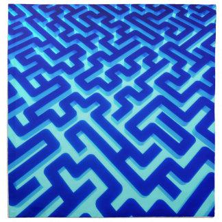 Labyrinth-Blau Serviette