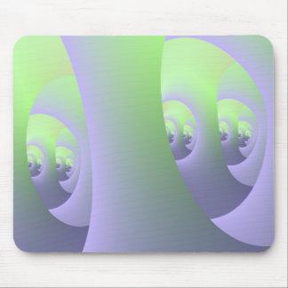 Labyrinth in lila und grünem Mousepad