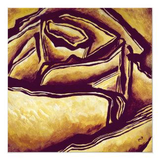 Labyrinth-Rose, die Blume Ihnen danken, kardiert Karte
