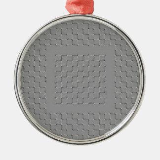 Labyrinth Rundes Silberfarbenes Ornament
